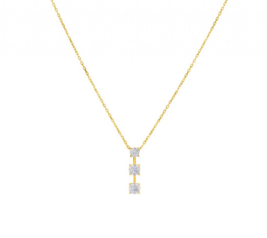 Triology Pendant Chain YG