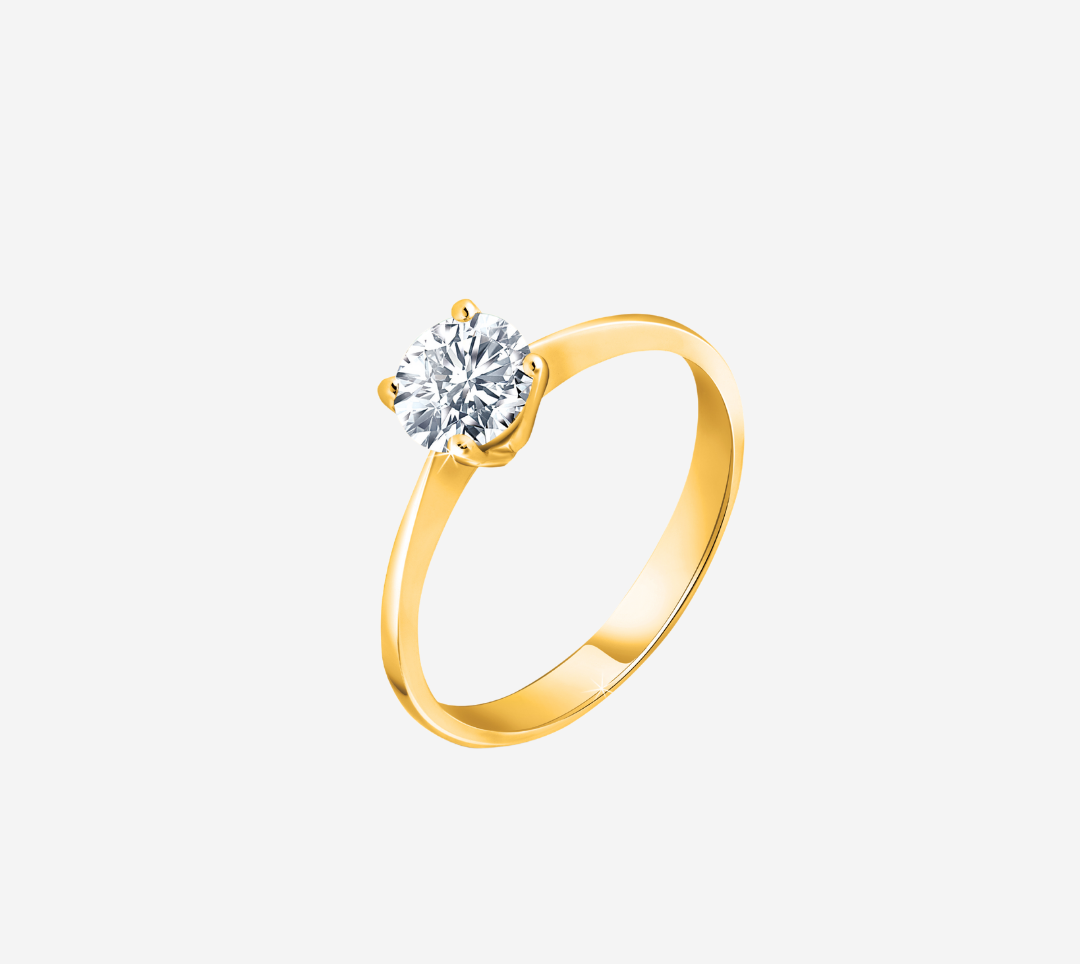 Diamond Solitaire Ring YG
