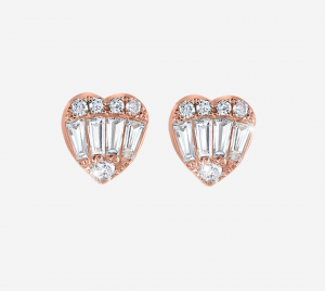 Baguette Heart Earring  RG