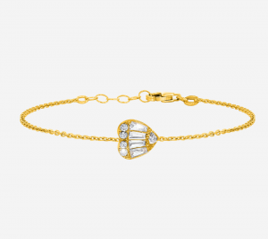 Baguette Heart Bracelet YG