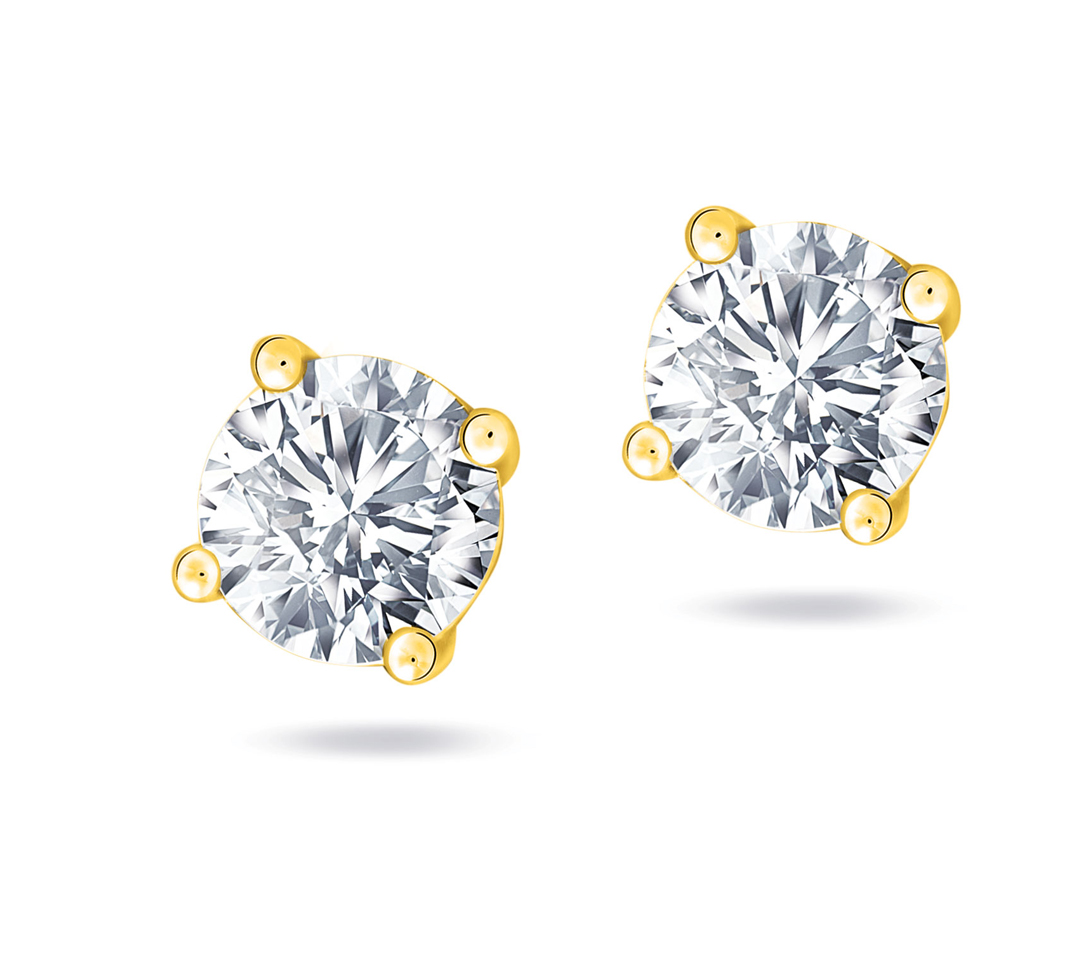 Diamond Solitaire Earring  YG