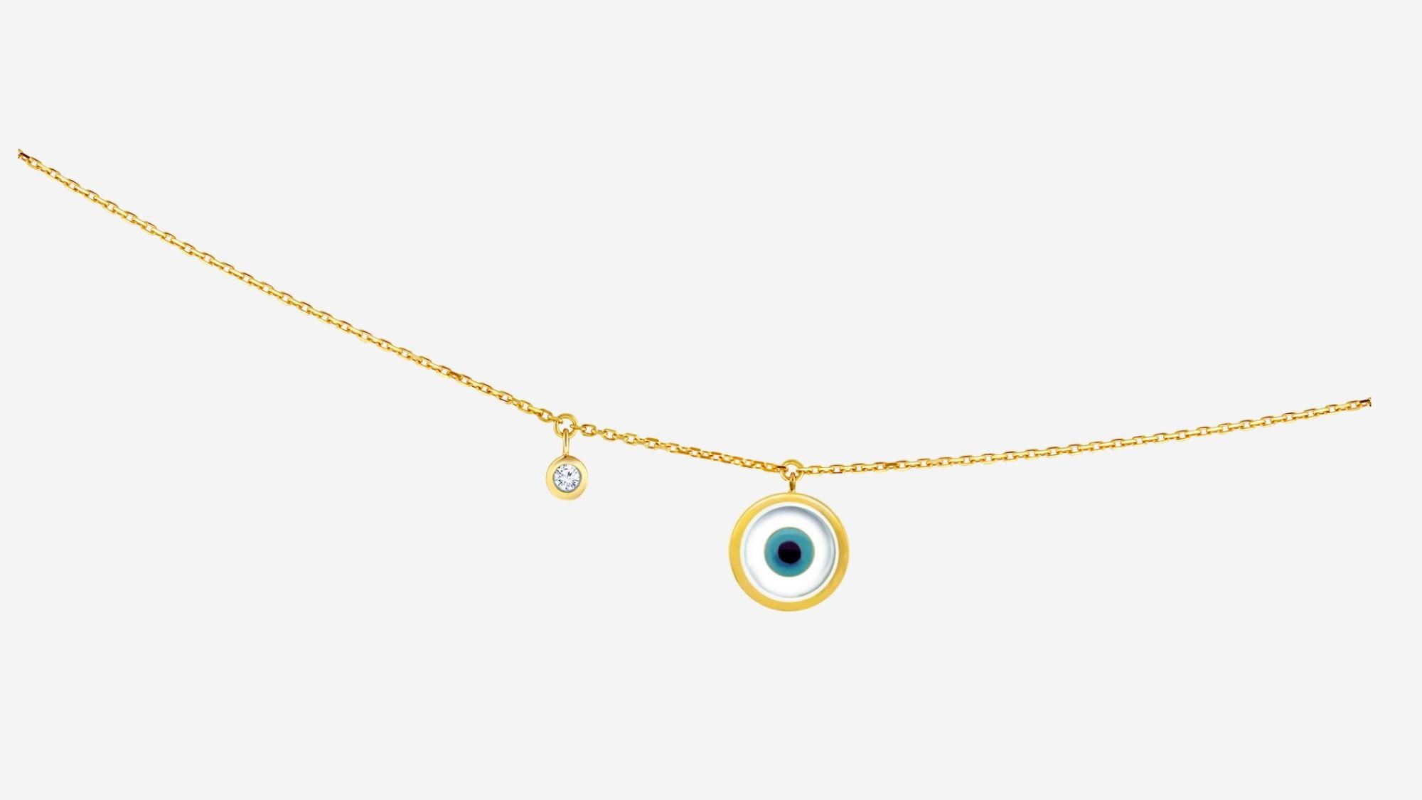 Single Evil Eye Charm CZ Anklet