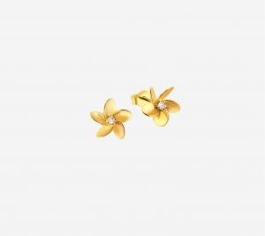 Plumeria Flower Earring