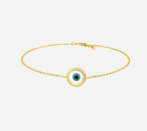 Single Evil Eye With CZ Bracelet