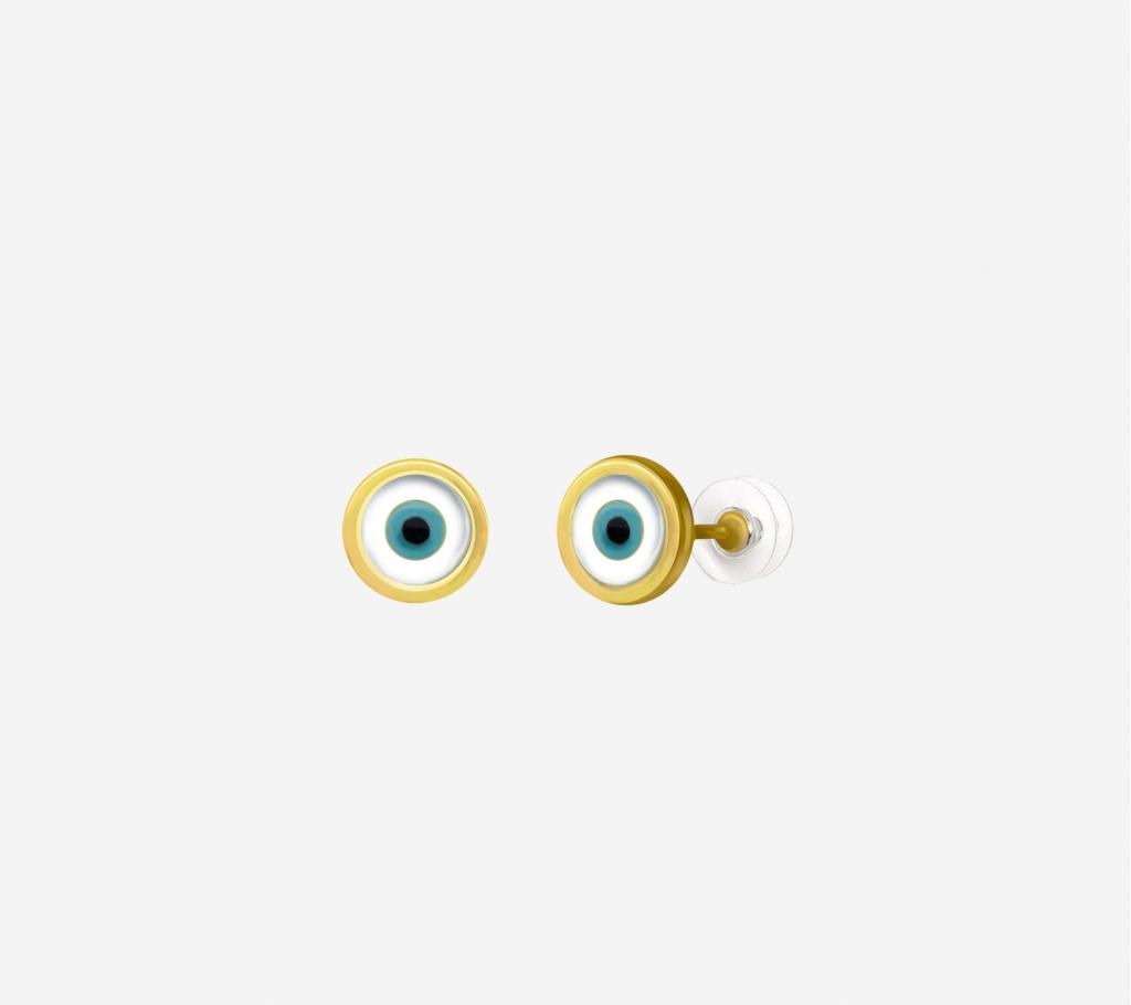 Single Evil Eye Earring