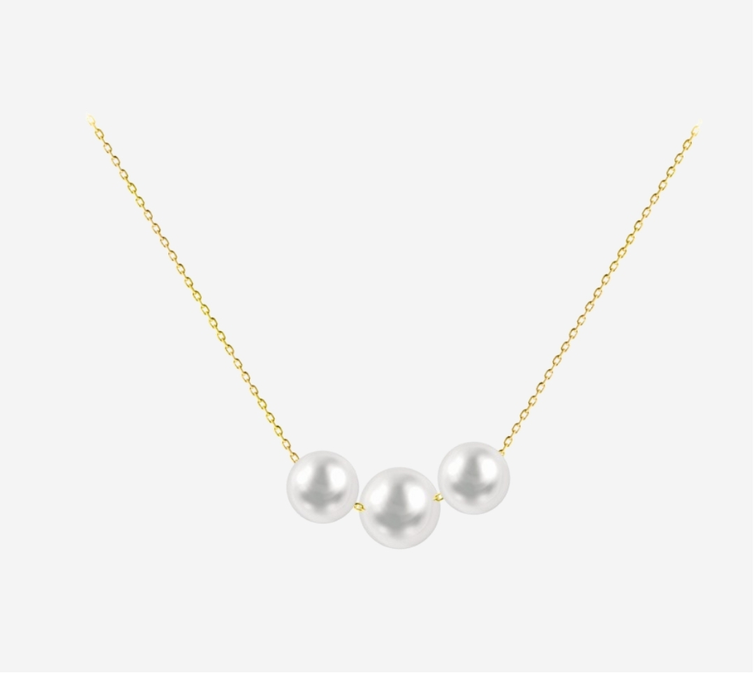 Three Pearl Necklace