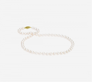 Basic Pearl Strand Necklace -7mm