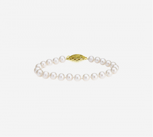 Basic Pearl Strand Bracelet 7mm