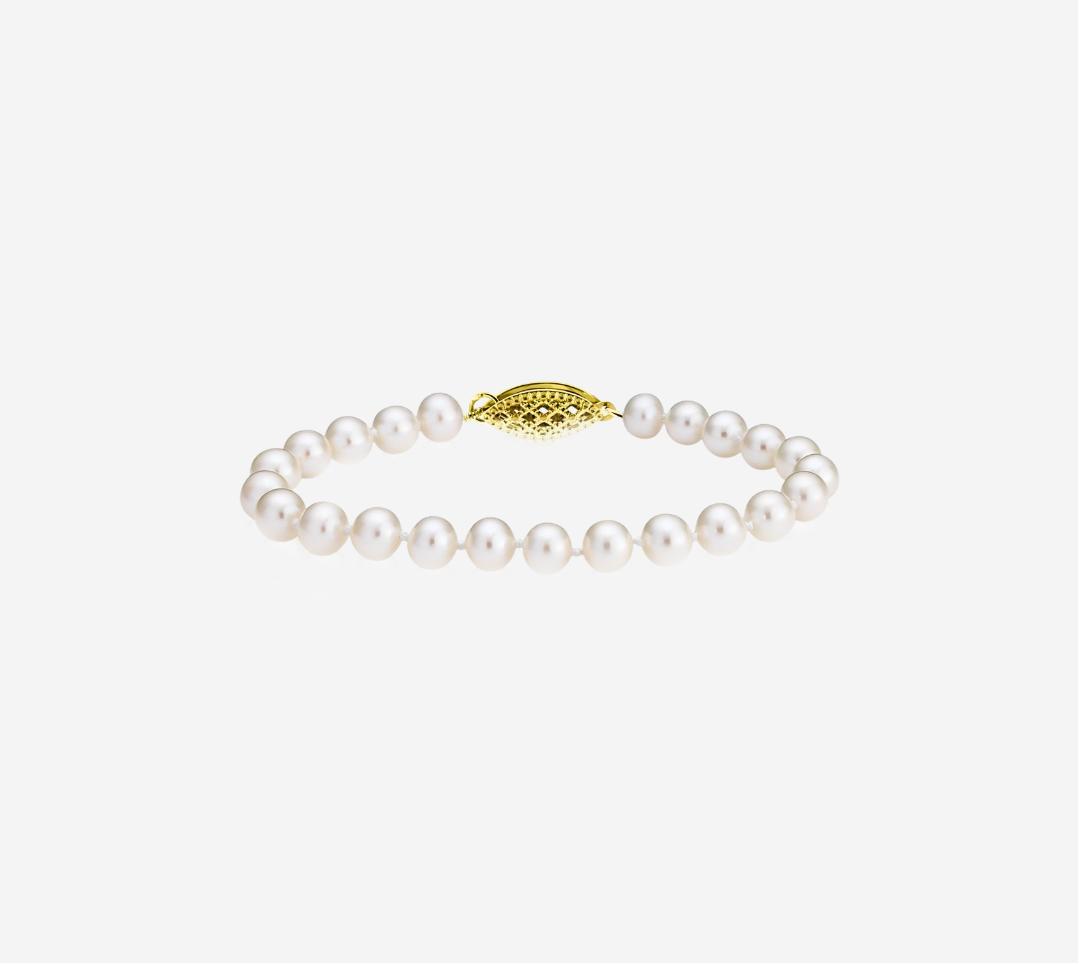 Basic Pearl Strand Bracelet 6mm