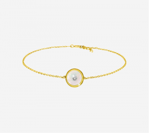 White mother of Pearl Bracelet With CZ